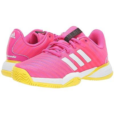 adidas Kids Barricade Tennis (Little Kid/Big Kid) (Shock Pink/White/Shock Yellow) Girl