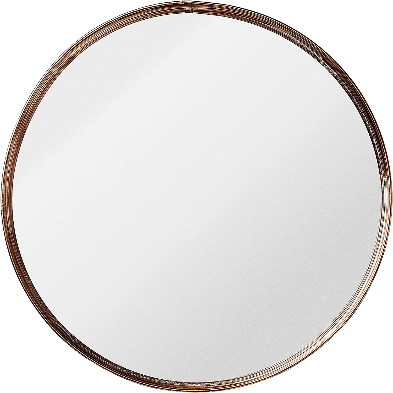 Bloomingville Small Round Metal Framed Mirror with Copper Finish