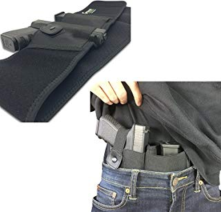 Belly Band Holster for Concealed Carry | IWB Holster | Waist Band Handgun Carrying System | Hand Gun Elastic Holder for Pistols
