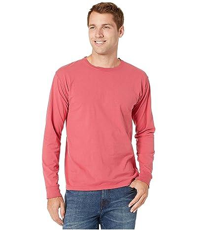 Hanes ComfortWashtm Garment Dyed Long Sleeve T-Shirt (Crimson Fall) Clothing