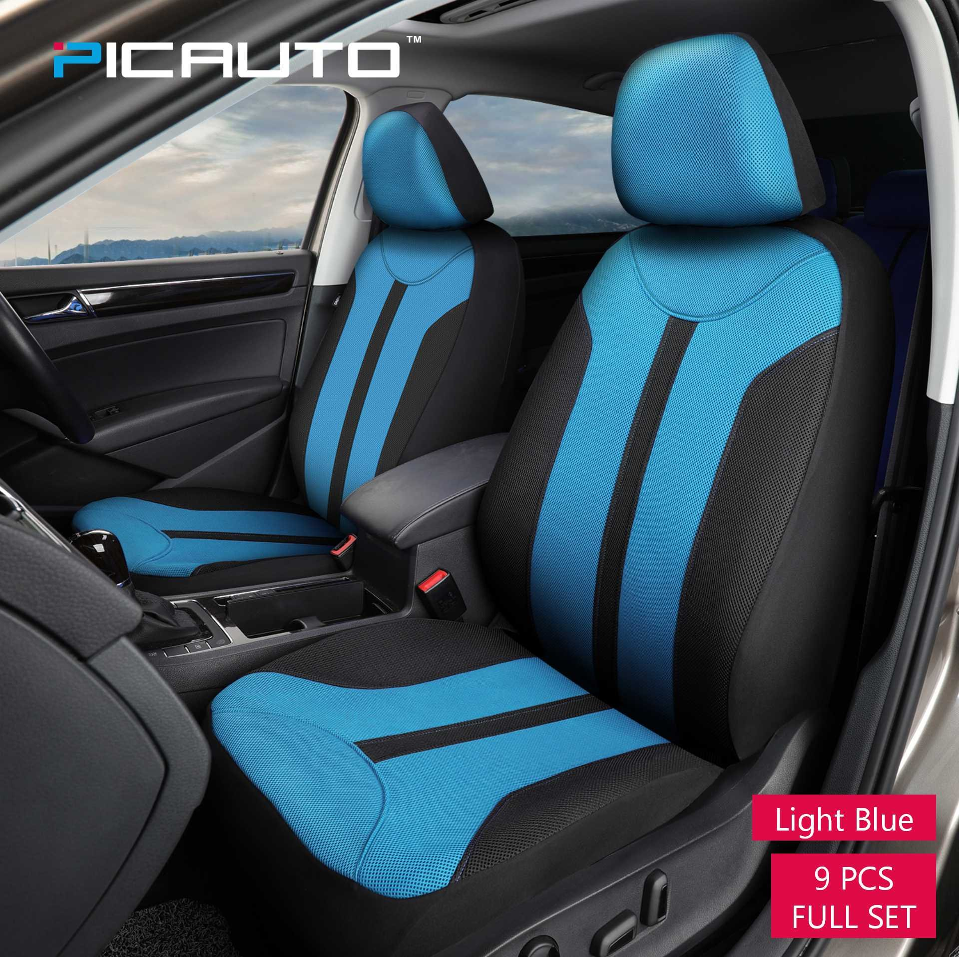 Awesome Pic Auto Car Seat Covers Full Set Mesh Fabric For Cars Suv Ibusinesslaw Wood Chair Design Ideas Ibusinesslaworg