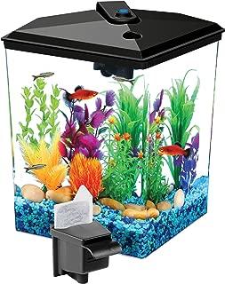 Koller Products 1-Gallon Betta Aquarium Kit, LED Light, Power Filter, and Betta Fish Tank, AP11104FFP