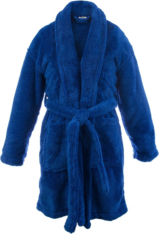 Baltimore Mall BC BARE COTTON Kids Microfiber Max 54% OFF Boys Shawl Robe - Fleece