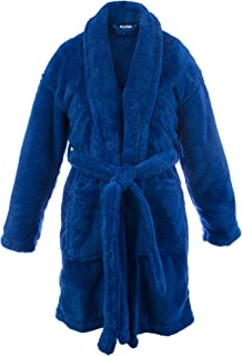 Image of A Popular Pick: Royal Blue Boy Fleece Bath Robes - See More Solid Colors
