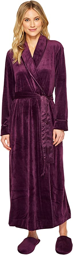 Carole Hochman - Velvet Long Wrap Robe with Slipper
