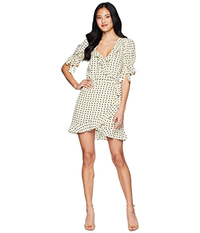 For Love and Lemons Sweetheart Wrap Mini Dress (Creme) Women