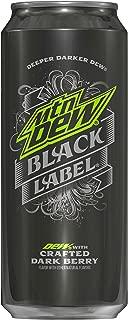 Mountain Dew Black Label, Dark Berry, 16oz Can