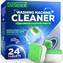 Duracare Washing Machine Cleaner | Heavy-Duty Deep Clean and Deodorize | 24 Tablets - 1 Year Supply | Best for HE, Frontload, and Topload Washers