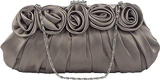 Bagood Women's 3D Flower Inlaid With Rhinestones Evening Bag Wedding Party Handbag Clutch Purse