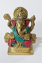 PARIJAT HANDICRAFT Brass Metal Lord Ganesha ganpati Religious Metal Pooja Statue Idol Ganesh murti Home Decor for puja sho...