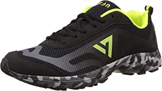 Seven Men's Camo Black, Pewter and Lime Punch Running Shoes - 11 UK/India (45 EU)