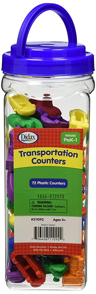 Didax Educational Resources Transportation Counters, 72