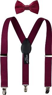 Spring Notion Boys' Suspender and Velvet Bow Tie Set