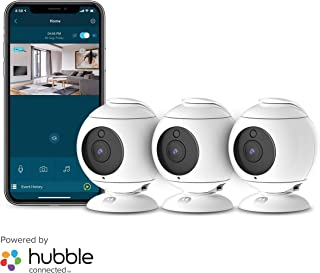 Motorola Focus89-3W Wireless Indoor Cameras for Home-Security Surveillance System with Temperature, Sound and Motion Detection, Remote Pan, Tilt, Digital Zoom, Two-Way Talk - 1080p Video, Night Vision