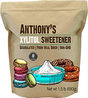 Anthony's Xylitol Sweetener, 1.5 lb, Made from Birch, Gluten Free, Keto Friendly, Non GMO