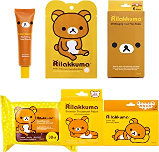 Rilakkuma - Collection Bundle | Facial Sheet Mask - Hand Cream - Nose Strips - Under Eye Mask - Blemish Patches - Makeup Remover Wipes