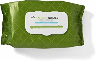FitRight Aloe Quilted Heavyweight Personal Cleansing Cloth Wipes, Unscented, Pack of 48, 8 x 12 inch Adult Large Incontinence Wipes