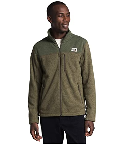 The North Face Gordon Lyons Full Zip (Burnt Olive Green/New Taupe Green) Men