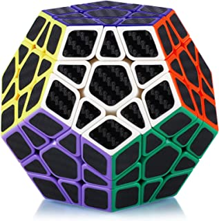 Maomaoyu Megaminx Dodécaèdre Cube 3x3 3x3x3 Speed Cube Magic Cube 12 Faces Puzzle Twist Magic Cube Fibre de Carbone Autoco...