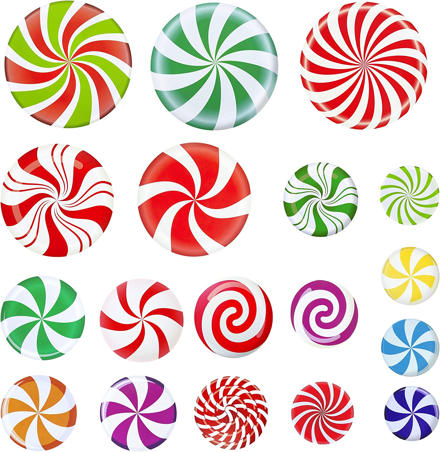 OFFicial store Peppermint Floor Decals 18Pcs Sti Christmas Sale item Self-Adhesive
