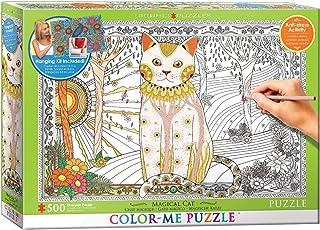 """Eurographics 6055-0888""""Colour-Me Magical Cat"""" Puzzle (500-Piece)"""
