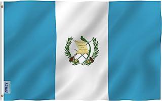 Anley Fly Breeze - Bandera de Guatemala de 32.5 x 3.9ft, color vivo y a prueba de decoloración, cabecera de lona y doble ...