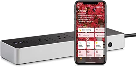 Eve Energy Strip - Smart Triple Outlet & Power Meter with Surge, overvoltage, overcurrent Protection, Apple HomeKit Techno...