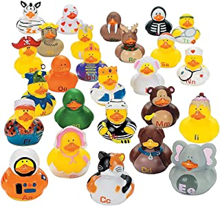 Fun Express Abc's Rubber Duckies - 26 Pieces - Educational and Learning Activities for Kids