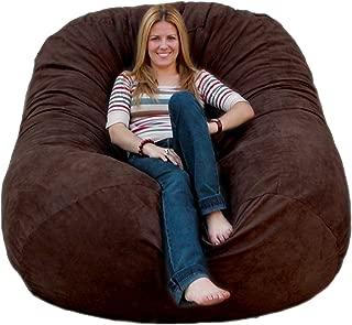 Cozy Sack 6-Feet Bean Bag Chair, Large, Chocolate