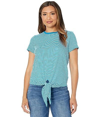 LAUREN Ralph Lauren Tied Hem Slub Jersey T-Shirt