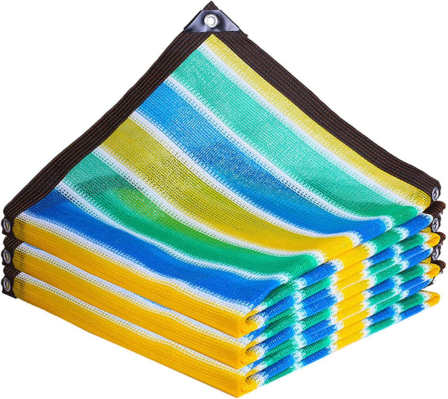 QIAOH 70% Fresno Mall Sunblock Shade Cloth with 7x7ft Limited time for free shipping Blo Sun Grommets Mesh
