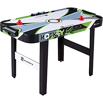 """MD Sports 48"""" Air Powered Hockey Table with LED Electronic Scorer, Black/Green"""