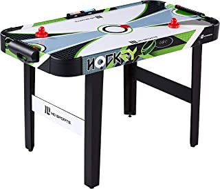"MD Sports 48"" Air Powered Hockey Table with LED Electronic Scorer, Black/Green"