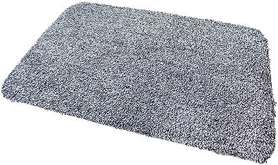 Anika 18x28 inch Super Absorbent Doormat, Black