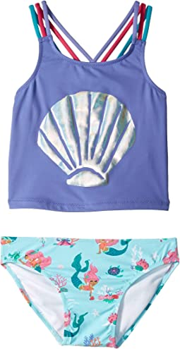 Mermaid Tales Sporty Tankini Set (Toddler/Little Kids/Big Kids)
