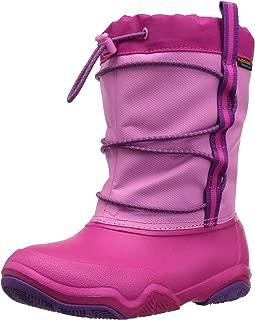 Crocs Unisex-Child Girls Swiftwater Waterproof Boot K - K Swiftwater Waterproof Boot K