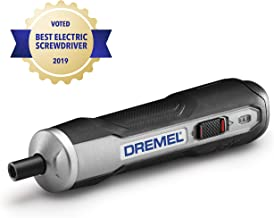 Dremel GO-01 Powered Cordless Electric Screwdriver Set-7 Bits with Phillips, Flat, Hex Head- Precise Screw Driver That Is Automatic, Small, Portable - Integrated Rechargeable Battery with USB