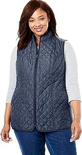 Women's Plus Size Zip-Front Quilted Vest