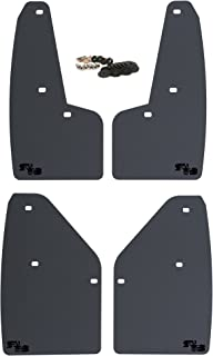 RokBlokz Mud Flaps for 2010-2014 Ford Raptor - Set of 4 - Multiple Colors Available - Includes All Mounting Hardware (Black with Black Logo)
