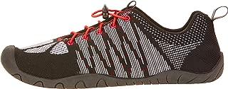 Athletic Works Men's Knit Aqua Sock/Water Shoe Black Red (9-10)