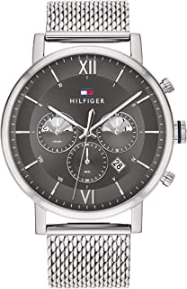Tommy Hilfiger Men'S Grey Dial Stainless Steel Watch - 1710396