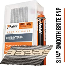 Paslode - 650535 3 1/4-Inch by .131 Smooth Brite Nail and Fuel Pack for Cordless Framing Nailers (1,000 Nails + 1 Fuel Cell)