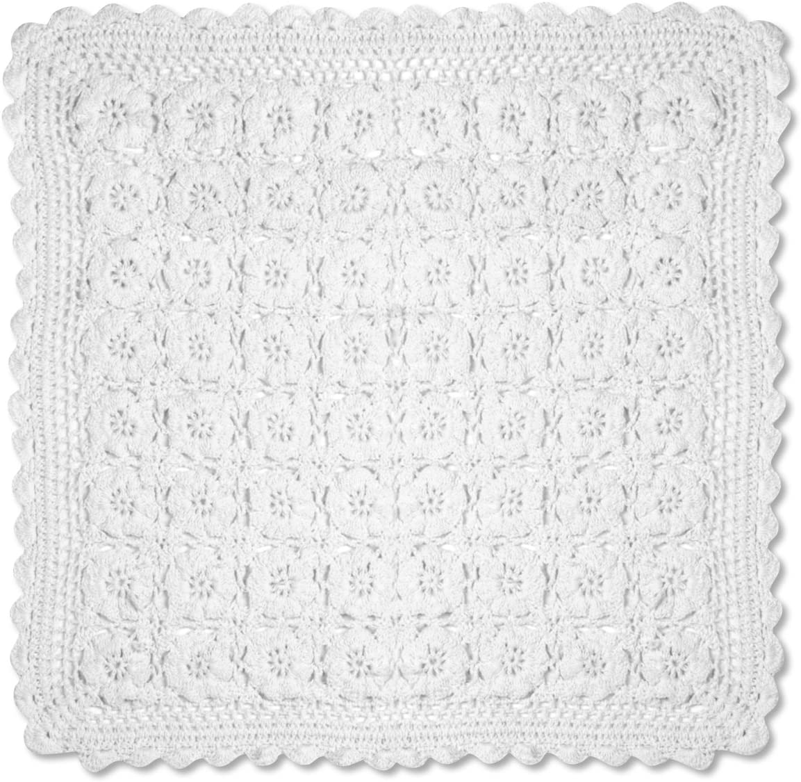 Heritage Lace OFFicial Blue Ribbon Crochet 14-Inch by Spasm price 14 Doily White