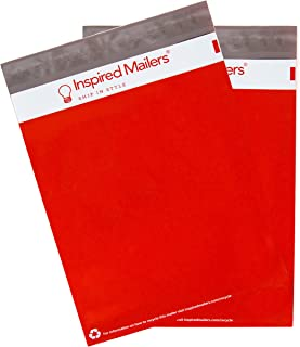 Inspired Mailers - Red Poly Mailers 14.5x19-100 Pack - Choose from Many Size and Color Options - 3.15mil Unpadded Shipping Bags (14.5x19, 100 Pack)