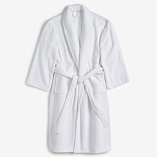 Vera Wang Solid Unisex Bath Robe, Medium/Large, White