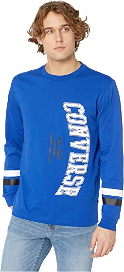 Vertical Collegiate Text Long Sleeve Tee