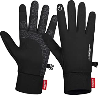 Lanyi Winter Cycling Gloves Touchscreen Lightweight Windproof Anti-Slip Warm Liner Gloves Running Driving Climbing Biking ...