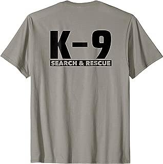 K9 Thin Orange Line Search & Rescue SAR K-9 Team T-Shirt