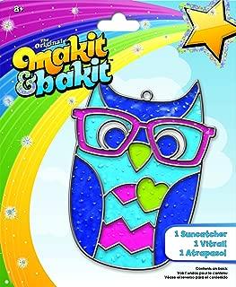 Colorbok TB-73245 Makit and Bakit Suncatcher Kit, Owl
