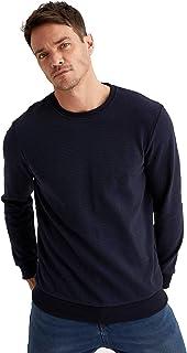 DeFacto Herensweatshirt, sweatshirt voor heren, pullover voor mannen, trui voor mannen